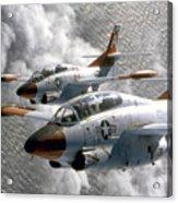 Two U.s. Navy T-2c Buckeye Aircraft Acrylic Print