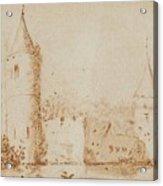 Two Views Of Egmond Castle Acrylic Print