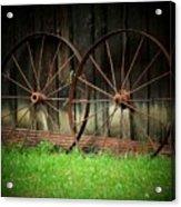 Two Wagon Wheels Acrylic Print by Michael L Kimble