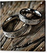 Two Wedding Rings With Celtic Design Acrylic Print