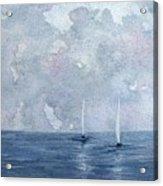 Two White Sails Acrylic Print