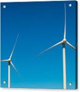 Two Wind Turbines Acrylic Print