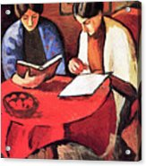 Two Women At The Table By August Macke Acrylic Print