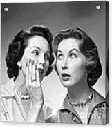 Two Women Gossiping, C.1950-60s Acrylic Print