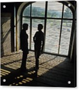 Two Women In  Shadows Acrylic Print