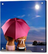 Two Women Relaxing On A Shore Acrylic Print