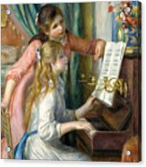 Two Young Girls At The Piano, 1892  Acrylic Print