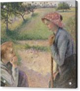 Two Young Peasant Women Acrylic Print