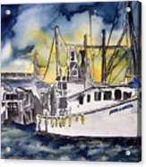 Tybee Island Georgia Boat Acrylic Print