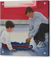 Tying Shoes Acrylic Print
