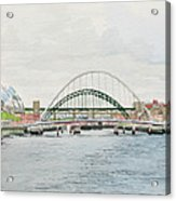 Tyne Bridges And Quayside Acrylic Print
