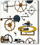 Types Of Clock Mechanism, 1810 Acrylic Print