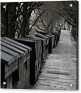 Typical Book Stands Along Seine, Autumn Acrylic Print