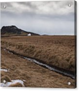 Typical Icelandic Mountain Landscape Acrylic Print