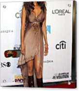 Tyra Banks At Arrivals For Conde Nast Acrylic Print