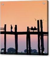 U-bein Bridge At Dawn Acrylic Print