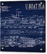 U-boat Submarine Plan Acrylic Print