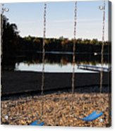U R Here - On The Swings Acrylic Print