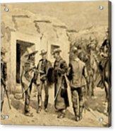 U. S. Cavalry Hunting Garza Men On The Rio Grande Acrylic Print