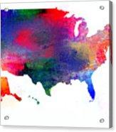 U S Map Color  Acrylic Print
