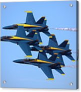 U S Navy Blue Angeles, Formation Flying Acrylic Print