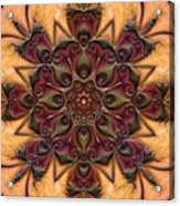 u046-b Quartetweaks Of An 8-Petaled Mandalwork 2 Acrylic Print