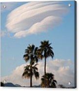 Ufo Cloud Over Palm Springs Acrylic Print