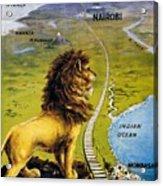 Uganda Railway - British East Africa - Retro Travel Poster - Vintage Poster Acrylic Print