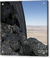 Uh-60 Black Hawk Crew Chief Takes Acrylic Print