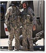 Uh-60 Black Hawk Crew Chiefs Acrylic Print