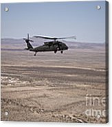 Uh-60 Black Hawk En Route To New Mexico Acrylic Print