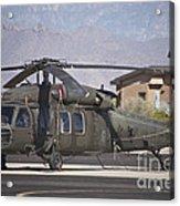 Uh-60 Black Hawk Helicopter At Pinal Acrylic Print
