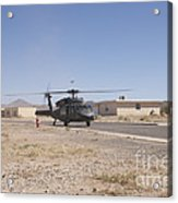 Uh-60 Black Hawk Helicopter Lands Acrylic Print