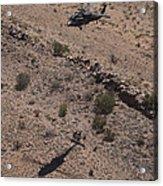 Uh-60 Black Hawk Hovers Above U.s Acrylic Print