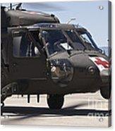 Uh-60 Black Hawk Refuels Acrylic Print