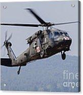 Uh-60a Black Hawk Medevac Helicopter Acrylic Print