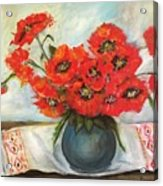 Ukrainian Poppies Acrylic Print