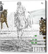Ultimate Challenge - Horse Eventing Print Color Tinted Acrylic Print