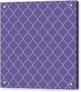 Ultra Violet Quatrefoil Acrylic Print