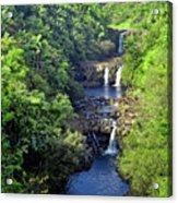 Umauma Falls Hawaii Acrylic Print by Daniel Hagerman