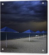 Umbrella Blues Acrylic Print