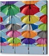 Umbrella Rainbow Acrylic Print