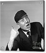 Umpire Making Out Signal, 1950s Acrylic Print