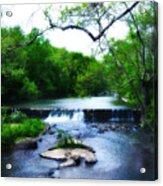 Unami Creek Dam Acrylic Print by Bill Cannon