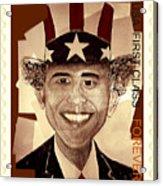 Uncle Bam  Postage Stamp Acrylic Print by Teodoro De La Santa