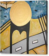 Under Brooklyn Bridge Ny Acrylic Print