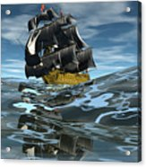 Under Full Sail Acrylic Print by Claude McCoy
