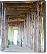 Under The Boardwalk Except It's The Pier Acrylic Print