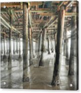 Under The Boardwalk Into The Light Acrylic Print