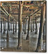 Under The Boardwalk Pier Sunbeams  Acrylic Print
